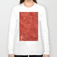 meat Long Sleeve T-shirts featuring mEAT by Jevan Strudwick