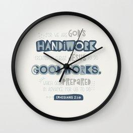 We Are God's Handiwork Wall Clock