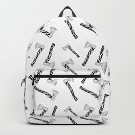 Axeistential Crisis - Black on White Backpack