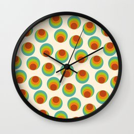 Pattern Vintage Bublle  Wall Clock