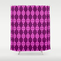 diamonds Shower Curtains featuring Diamonds by Empire Ruhl