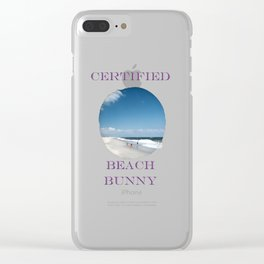 Certified Beach Bunny Clear iPhone Case