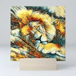 AnimalArt_Lion_20170604_by_JAMColorsSpecial Mini Art Print