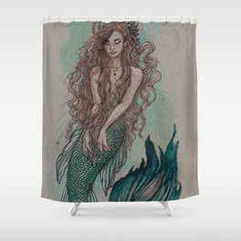 Mermaid Sea Enchanter Shower Curtain