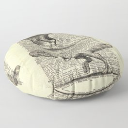 Dictionary Dinosaurs Floor Pillow