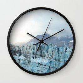 Glacier ice at the Jökulsárlón glacial lagoon | Travel photography Iceland Wall Clock