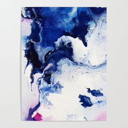 Riveting Abstract Watercolor Painting Poster