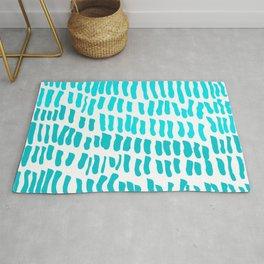 Turquoise stripes Rug
