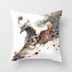 Kirin Unicorn Throw Pillow