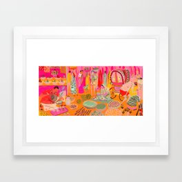 Indian Marketplace Framed Art Print
