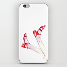 Red shoes iPhone Skin
