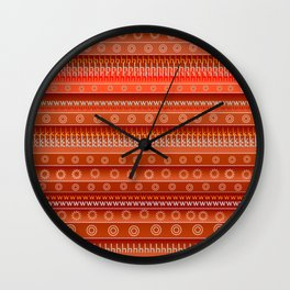 Abstract in orange Wall Clock