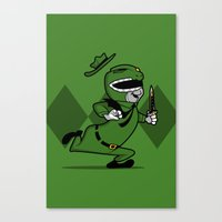 power ranger Canvas Prints featuring power ranger smith. by dann matthews