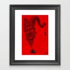 666 calling... Framed Art Print