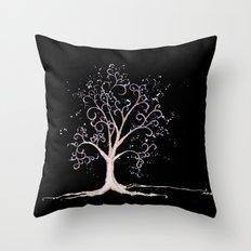 Dark elven tree Throw Pillow
