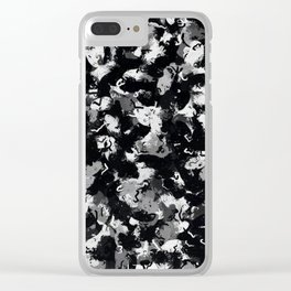 Shades of Gray and Black Oils #1979 Clear iPhone Case