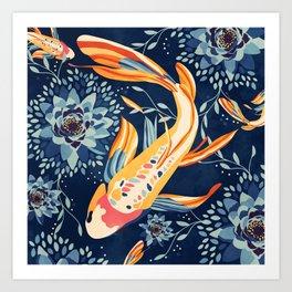 The Lotus Pond Art Print