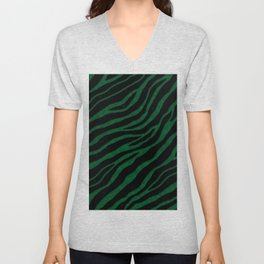 Ripped SpaceTime Stripes - Forest Unisex V-Neck
