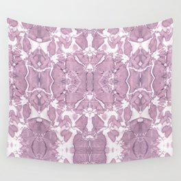 Shibori Rose Crepe De Chine Wall Tapestry