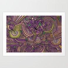 Drawing Meditation - Lilac Art Print