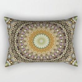 Antique Jeweled Mandala Rectangular Pillow