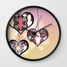 Ornament hearts Wall Clock