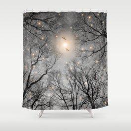 Nature Blazes (Ash Embers) Shower Curtain