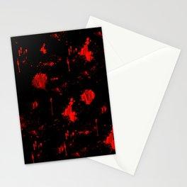 Red Paint / Blood splatter on black Stationery Cards