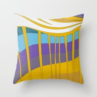 leah flores Throw Pillows featuring Leah by Jackie Elefante