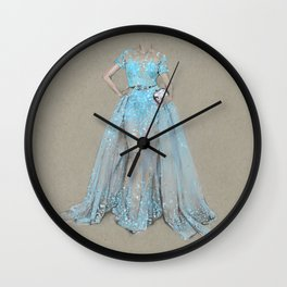 Elie Saab Long Dress - Fashion Illustration  Wall Clock