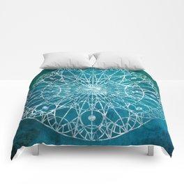 Rosette Window - Teal Comforters
