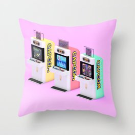 Capcom Candy Cab Throw Pillow
