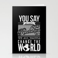 revolution Stationery Cards featuring Revolution.  by Creation Factory