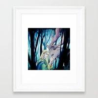thranduil Framed Art Prints featuring Thranduil by quelm