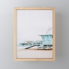 santa monica, california Framed Mini Art Print