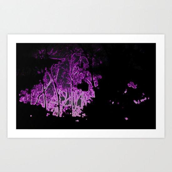 Ultraviolet Nightfall Art Print