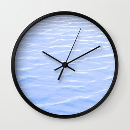 Rippling Blue Wall Clock