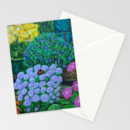 Monarch in the Flowers Stationery Cards