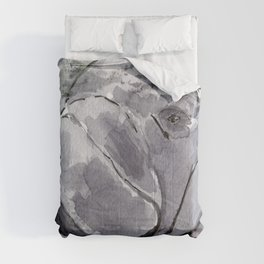 Manatee - Animal Series in Ink Comforters