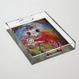 The Surrogate Mother-Goddess of Wisdom holding Alter-Ego Baby Bogomil Acrylic Tray