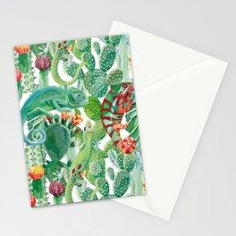 chameleon cacti pattern Stationery Cards