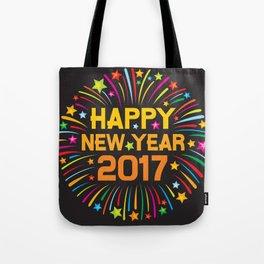 Happy new year 2017 firework Tote Bag