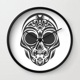 Skull mask Wall Clock