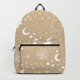 Magic Universe shooting stars and wishful eye moon sparkle and constellation blue Backpack