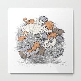 Hairball Buddies Metal Print