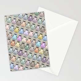 Fat cat pattern Stationery Cards