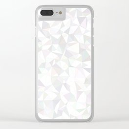 White triangle mosaic Clear iPhone Case