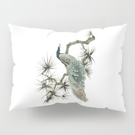 Turquoise Peacock Pillow Sham