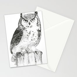 My great horned owl: Nuit Stationery Cards