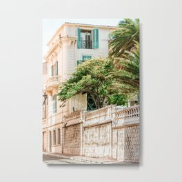Charming Cannes City Streets, Cote D'Azur, French Riviera Summer Travel Print, Exotic France City Metal Print
